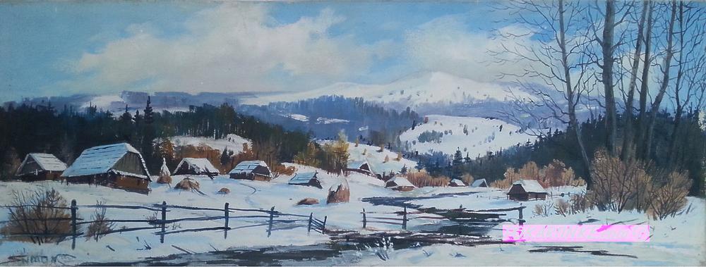 Зима в Карпатах - картинная галерея PoKartinke.com