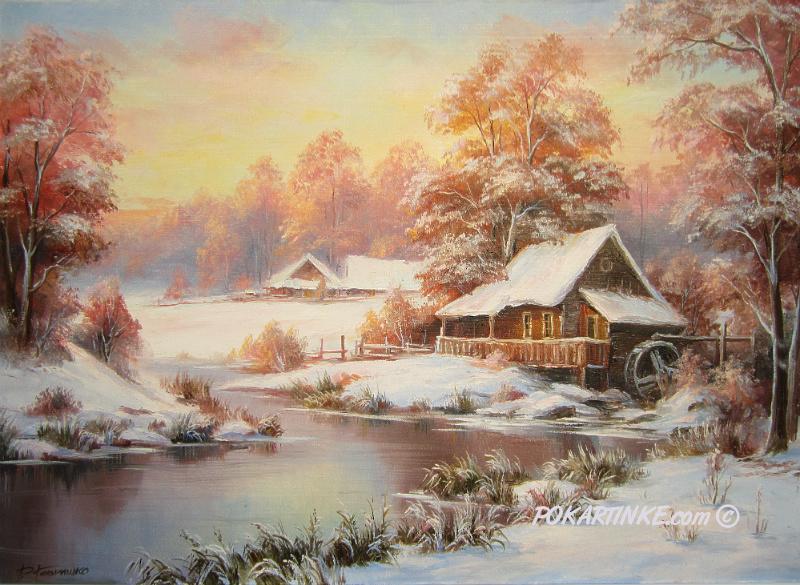 Зимовий млин - картинная галерея PoKartinke.com