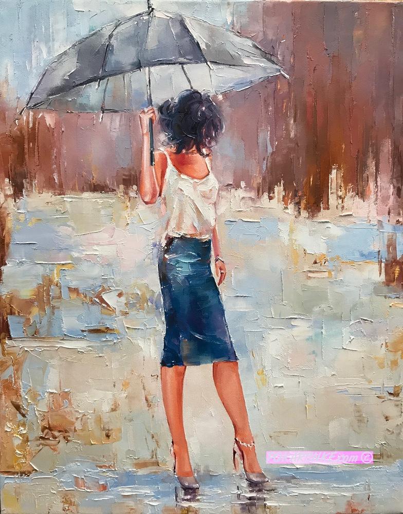 Под зонтиком - картинная галерея PoKartinke.com