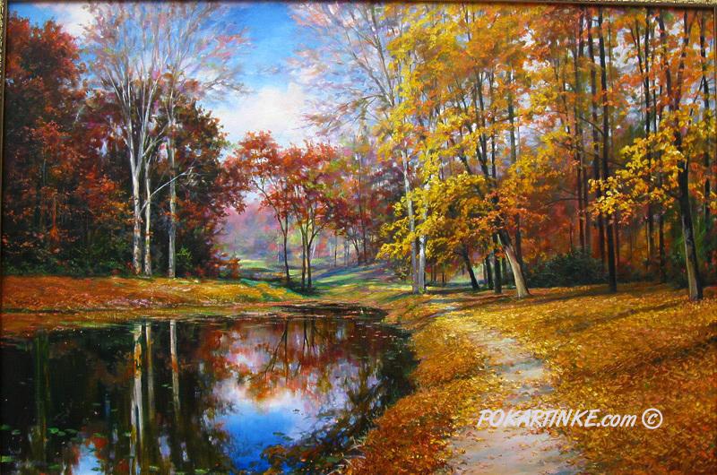 Золотая осень - картинная галерея PoKartinke.com