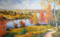 Золотая осень на реке