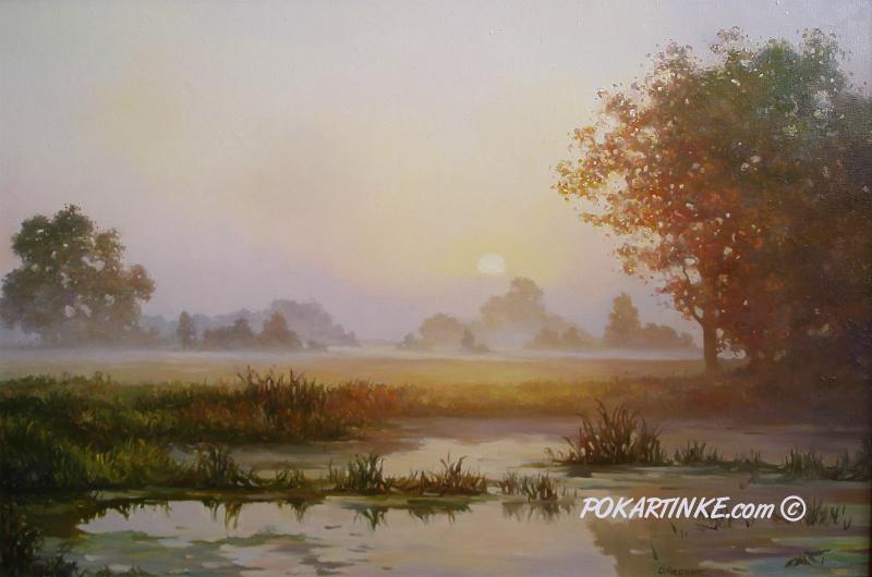 Золотистый вечер - картинная галерея PoKartinke.com